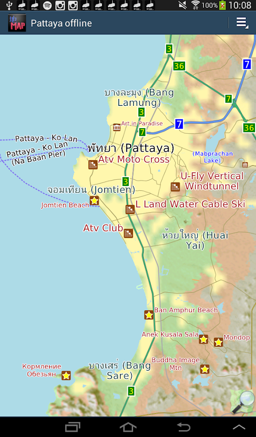 Pattaya Offline Map Android Apps On Google Play