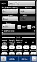 Screenshot of VoIP Calculator