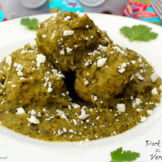 Pork Meatballs in a quick Verde Sauce