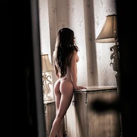 Peeking by Nicolae Matic - Nudes & Boudoir Artistic Nude ( erotic, lust, sexy, nude, desire, peeking, naked, woman, ass, sensual )
