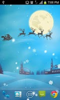 Screenshot of Flying Santa Live Wallpaper