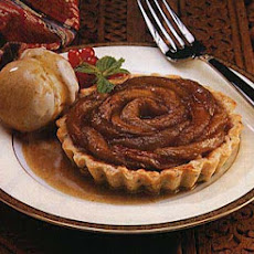 Apple and Caraway Tartlets with Cinnamon-Clove Ice Cream and Cider-Caramel Sauce