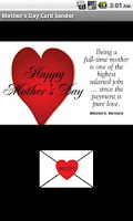 Screenshot of Mother's Day Card Sender