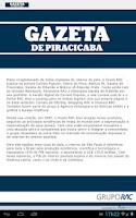 Screenshot of Gazeta de Piracicaba