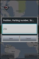 Screenshot of Parking Remember