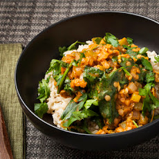 Louisiana-Style Red Lentils & Brown Rice