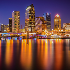 Tampa downtown by Richard Depinay - City,  Street & Park  Skylines