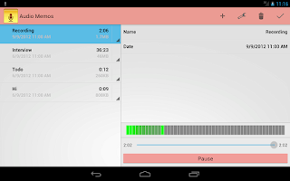 Screenshot of Audio Memos - Voice Recorder