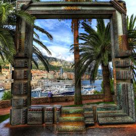 Monaco Framed by Jan Kiese - Buildings & Architecture Public & Historical