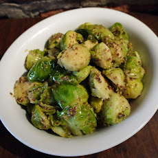Brussels Sprouts with Brown Butter and Grain Mustard