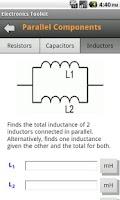 Screenshot of Electronics Toolkit