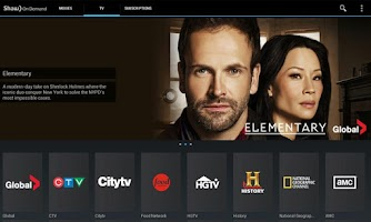 Screenshot of Shaw On Demand Search