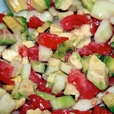 Atkins Cucumber-Avocado Salad With Cumin Dressing