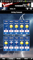 Screenshot of DFW Weather