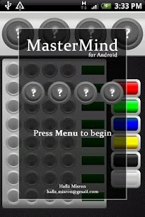 MasterMind for Android - screenshot