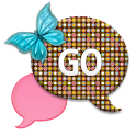 GO SMS - Retro Butterfly Dot icon
