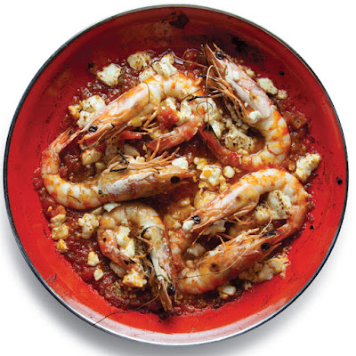 Garides Saganaki (Shrimp with Tomatoes and Feta)