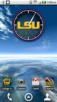 Screenshot of Official LSU Tigers Live Clock