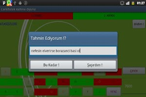 Screenshot of Carkifelek Kelime Oyunu