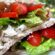 Middle Eastern Tuna Salad Pitas