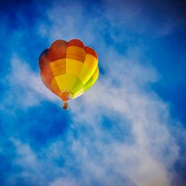 Hot air balloon festival 2014 by Esther Lane - Transportation Other ( hot air balloon, 2014, topeka, festival, huff and puff, kansas, steam )