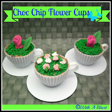 Choc Chip Flower Cups