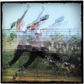 Softball windup by Kim Maunder - Sports & Fitness Other Sports