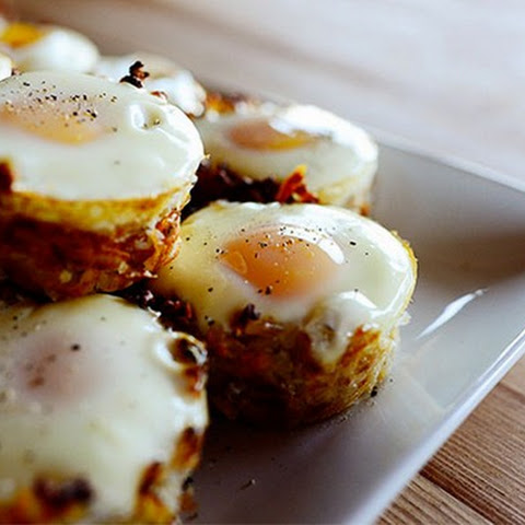 Fried Eggs in Potato Baskets