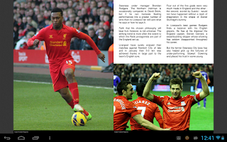 Screenshot of English Football Magazine