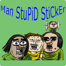 Man Stupid Sticker