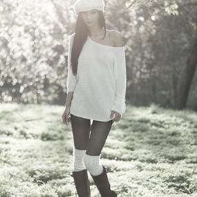 Autumn Light by Stanica Marius - People Fashion ( lights, girl, autumn, deep )