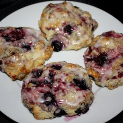 Lemon Glazed Berry Scones