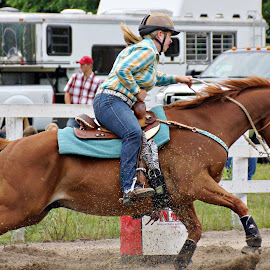 Barrel Racing by Kathy Norrad-Barber - Sports & Fitness Rodeo/Bull Riding
