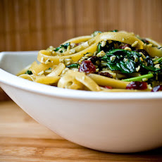 Pepita Fettucini with Spinach and Cranberries