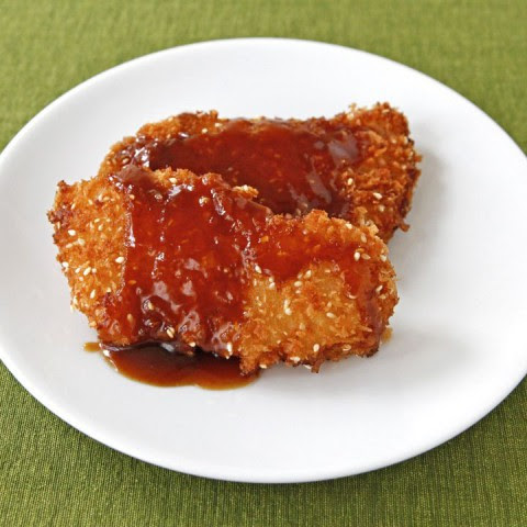 Crispy Panko Fish with Orange Sesame Sauce