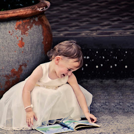 Loving Stories by Alan Evans - Babies & Children Children Candids ( child, reading, girl, aj photography, book, children,  )