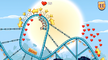 Screenshot of Nutty Fluffies Rollercoaster