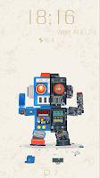 Screenshot of Robot Bobby Live Locker Theme
