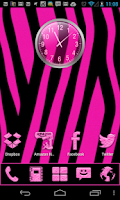 Screenshot of Pink Zebra theme and icon pack