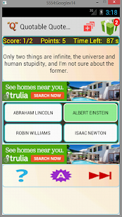Quotable Quotes Quiz - screenshot