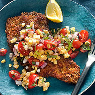 Beef Milanese with Fresh Corn & Cherry Tomatoes
