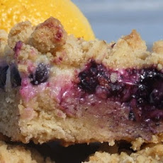 Blueberry- Lemon Streusel Bars