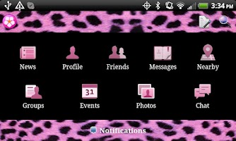 Screenshot of Cheetah Theme for Facebook