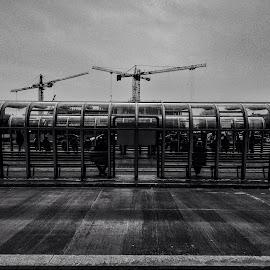 Citymetry by Filip Sokołowski - City,  Street & Park  Street Scenes ( street, grey, city, geometry )