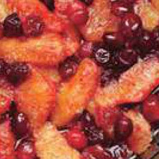 Orange Compote with Candied Cranberries