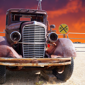 Old Reo in the Desert by Joerg Schlagheck - Transportation Automobiles ( desert, old., truck, rusty, reo,  )