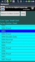 Screenshot of Coin Collecting - My US Coins
