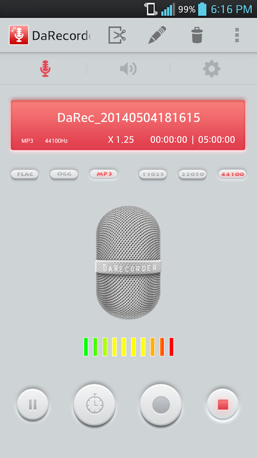 High Quality Voice Recorder Screenshot 2