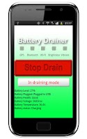 Screenshot of Battery Drainer