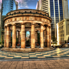 ANZAC Memorial Brisbane Australia by Peter Keast - Buildings & Architecture Public & Historical ( memorial, anzac, brisbane, war )